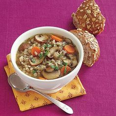 Want a comforting dinner in a flash? This mushroom barley soup comes together quickly, but tastes like it took all day!