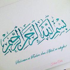🌸🖋Her işin başı besmele... #besmele #calligraphy #islamiccalligraphy #islam #art #islamart #tableau #toile 🕋