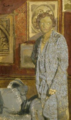Lady In Blue Artwork By Walter Richard Sickert Oil Painting & Art Prints On Canvas For Sale Walter Sickert, Leeds Art Gallery, Glasgow Museum, Art Cube, Blue Artwork, Impressionist Artists, Digital Museum, Group Art, Collaborative Art