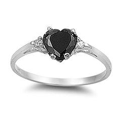 Simulated Black Onyx Heart & White Cubic Zirconia Ring Sz 9by Oxford Diamond Co - See more at: http://blackdiamondgemstone.com/colored-diamonds/jewelry/rings/statement/simulated-black-onyx-heart-white-cubic-zirconia-ring-sz-9-com/#sthash.Za0PcoaD.dpuf