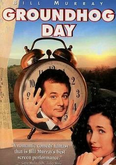 1993. Sent to cover the annual appearance of world-famous groundhog Punxsutawney Phil, a self-centered TV weatherman unleashes his bitterness -- and soon realizes he's doomed to repeat Groundhog Day until he learns that his actions can affect the outcome.