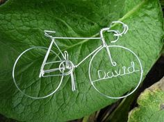 PERSONALIZED Racing Bike Sculpture by HeatherBoydWire on Etsy, $25.00