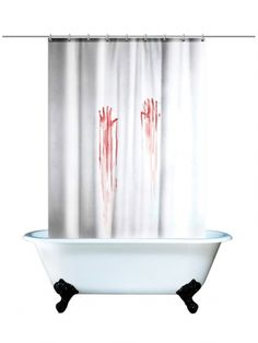 Blood Bath Shower Curtain (White/Red) #inkedshop #blood #curtain #red #shower #showercurtain