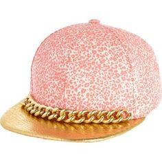 Pink leopard chain trim trucker hat - hats - accessories - women