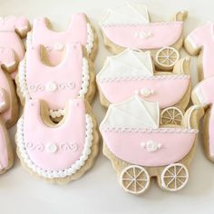 Pink Baby Shower Set