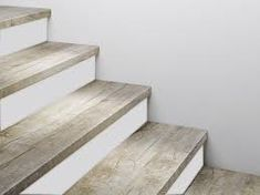 luxury vinyl plank on stairs with white risers vinyl floors pinterest vinyls vinyl. Black Bedroom Furniture Sets. Home Design Ideas