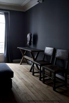 Best Dark Painted Rooms Images On Pinterest In Bedroom - Black painted room