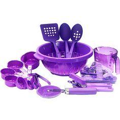 Dazzling Purple Kitchen Utensils Purple Kitchen, Kitchen Colors, Purple Home, Pink Purple, Purple Punch, Color Lila Pastel, All Things Purple, Purple Stuff, Kitchen Utensils