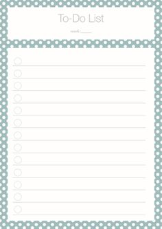 To Do List Freebie - Kathie's Cloud