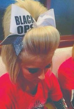 Love the bob style cheer hair. I so want a guy with a nice chin length bob so I can do fun things like this with his hair ; Cheer Hair Poof, Cheer Ponytail, Cheer Coaches, Cheer Mom, Work Hairstyles, Little Girl Hairstyles, Cheer Makeup, College Cheer, College Fun