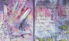 Art Journal - Hand by dini - Cards and Paper Crafts at Splitcoaststampers