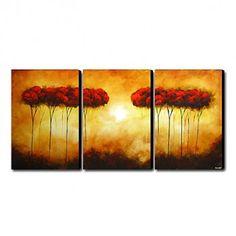 Hand-painted Oil Painting Landscape Oversized Landscape Set of 3 - OutletsArt.com