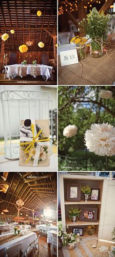 rustic wedding reception table ideas.