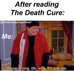 That's me after every book...