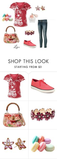 """""""Rose"""" by coolmommy44 ❤ liked on Polyvore featuring Jacques Vert, Sperry, Gucci, Wet Seal, Kate Spade and Dana"""