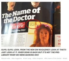 River song is coming back!!!!