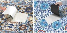 25Pcs Self Adhesive Bohemia Simulation Ceramic Tiles DIY Kitchen Bathroom Wall Decal Sticker is Solid-NewChic