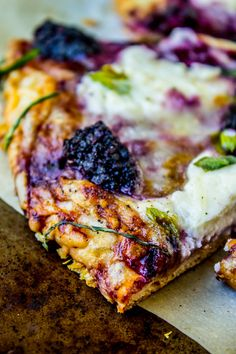 Blackberry Ricotta Pizza with Basil from The Food Charlatan