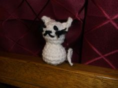 Mini Tiny White Crochet Cat Amigurumi with or by SalemsShop, $10.00