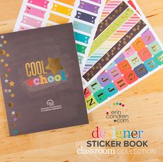 #ErinCondren Designer #StickerBook: #Classroom Edition!