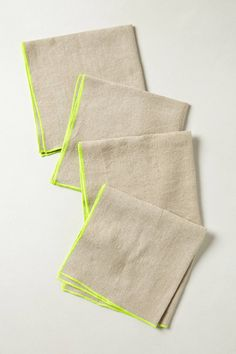 Neon Border Napkin Set - anthropologie.com