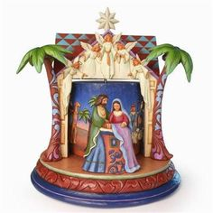 Jim Shore The Night of Our Dear Savior's Birth Rotating Nativity Masterpiece