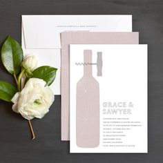Modern Winery Wedding Invitations