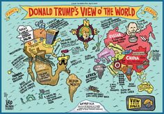 A map of the World according to Donald Trump