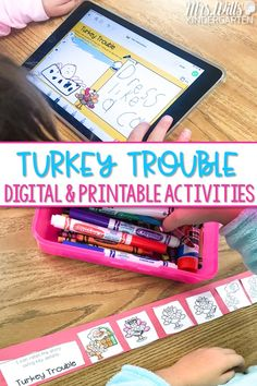 Check out these lesson plans and activities for Turkey Trouble and 3 other great titles! Digital and printable resources for kindergarten and 1st grade. Use for classroom use or distance learning!