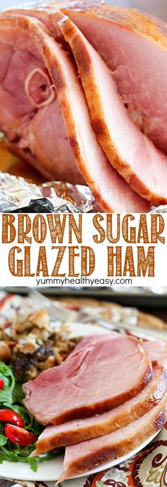 The juiciest, most tender Brown Sugar Glazed Ham ever and it's SO easy! Only a few simple ingredients to an incredible ham that will be a hit at your next holiday party! Ham Recipes, Dinner Recipes, Cooking Recipes, Dinner Ideas, Pillsbury Recipes, Dinner Entrees, Easter Recipes, Yummy Recipes, Chicken Recipes