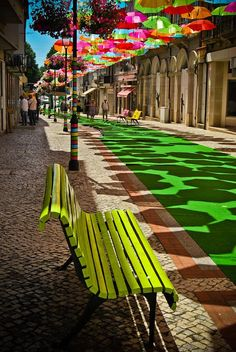 Umbrellas  in Agueda, Portugal