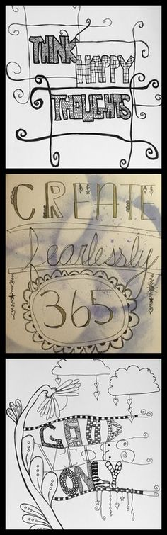 Hippie Art Studio: #CreateFearlessly365 Project - January Doodling