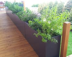 Fiber cement planter for guardrail cladding by image & # in,