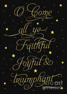 #Christmas #GreetingCard #JHughesDesigns #Faithful #Joyful