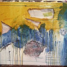 The messy art of transformation #metamorph #painting #studio