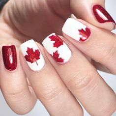 The prettiest Canada Day nails I've ever seen