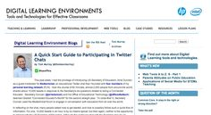 A Quick Start Guide to Participating in Twitter Chats | Digital Learning Environments