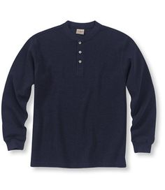 Mini Waffle Henley, Traditional Fit: T-Shirts | Free Shipping at L.L.Bean - Medium