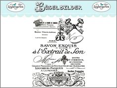 ♥♥ Zauber-Garten ♥♥: Vintage Collagen auf Bügelbildern