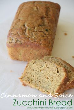 The Sweet {Tooth} Life: Cinnamon and Sugar Zucchini Bread