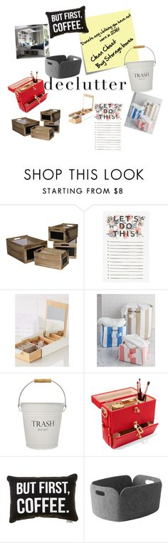 """2017 Tasks- Get Organized"" by katrina-bender-wilson ❤ liked on Polyvore featuring interior, interiors, interior design, home, home decor, interior decorating, Post-It, Rifle Paper Co, Umbra and InterDesign"