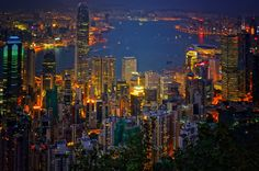 The Peak (China). 'Rising above the financial heart of Hong Kong Island, Victoria Peak offers superlative views of the city and the mountainous countryside beyond. Ride the hair-raising Peak Tram to the cooler climes at the top as a teeming mass of moneyed skyscrapers and choked apartment blocks unfolds below. At dusk Victoria Harbour glitters like the Milky Way in a sci-fi movie poster.'