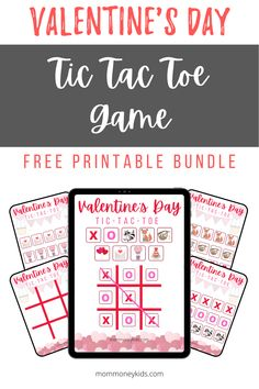 This Valentine's Day themed tic tac toe game can be used for free play, homeschool or for playing with manipulatives and fine motor skills. Toddler Board Games, Toddler Home Activities, Activities For Kids, Cute Valentines Day Cards, Valentine Day Crafts, Holiday Crafts, Tic Tac Toe Free, Alternative Education, Holidays With Kids