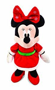 Not a creature was stirring, except for this mouse. This adorable Minnie Mouse plush is all dressed up for the holidays with her pretty winter dress and snowflake bow! Just right for snuggling in cold winter months, this plush features crinkles in her bow for added discovery.