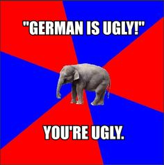 Foreign Language Major Elephant meme--this one's for Shelby.