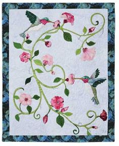 Free Hummingbird Quilt Patterns | Create a paper or plastic overlay to position pieces before fusing.