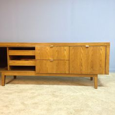 88 Vintage Wood Credenza Mid Century By EamesInteriorDesigns