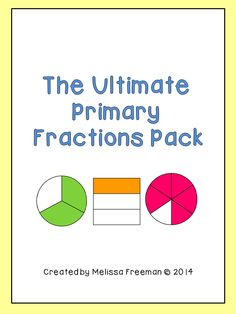 The Ultimate Fractions pack contains worksheets, posters, word wall words, task cards, a word search, and a 3-page test. This package is aimed at second grade but it has activities that could be used in first grade (lots of worksheets dealing with halves, thirds and fourths).