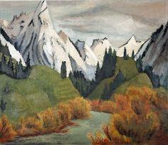 Erich Heckel, Fluss im Gebirge, 1923