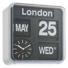 FLAP Black small analogue city wall clock